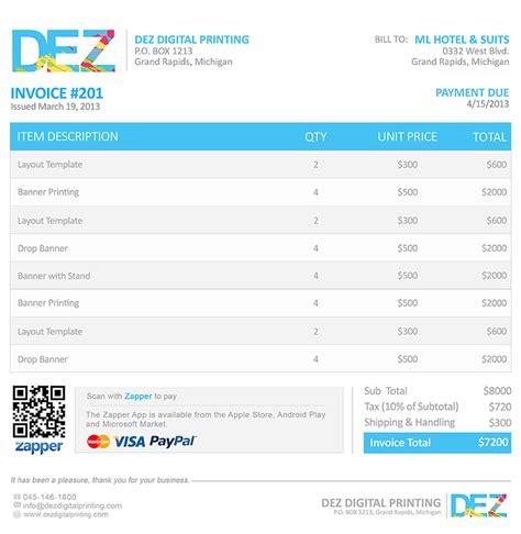 zapper bills sample invoices