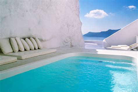 Natural Pool Santorini Greece Inspiration Cave Pool
