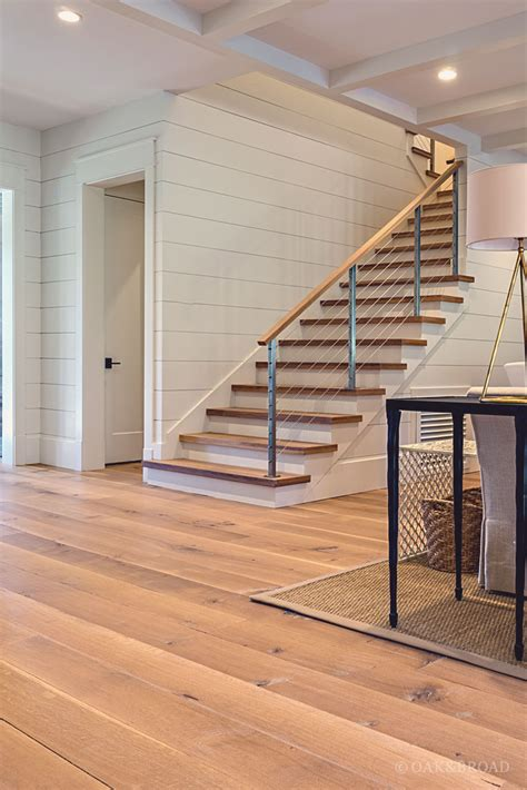 living room small and wooden staircases brick wall design nashville tennessee wide plank white oak flooring