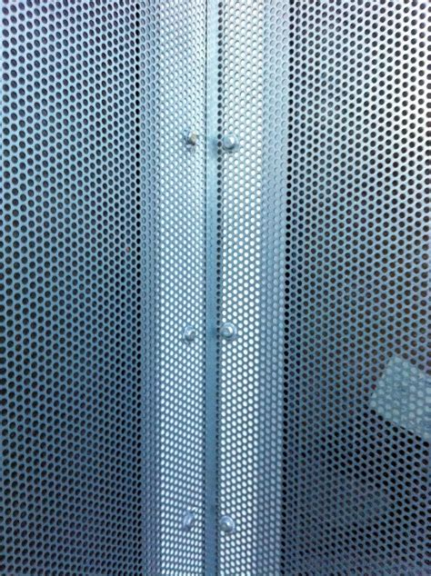 perforated steel security screens  safe site security