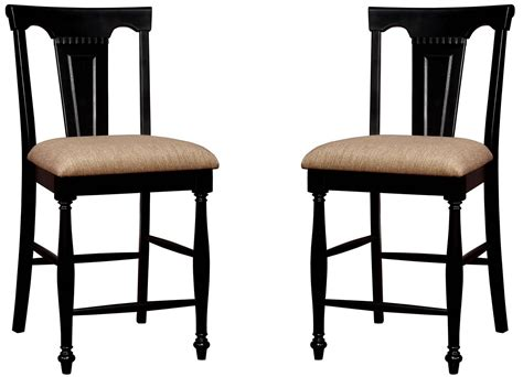 sabrina cherry black counter height chair set of 2 from