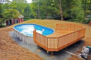17 best ideas about oval above ground pools on oval pool pool with deck and above