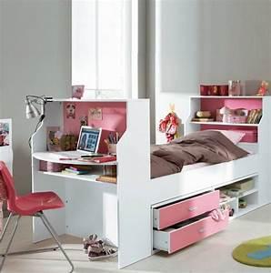 Bureau Chambre Fille : lit bureau pour chambre fille photo 12 15 economisez de la place dans votre maison ~ Teatrodelosmanantiales.com Idées de Décoration