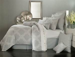 Acanthus, Arbor, Grey, By, Waterford, Luxury, Bedding