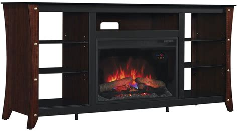 classicflame midnight cherry marlin tv stand