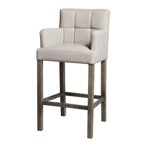 chaise de bar haute kyo gris accoudoirs