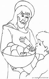 Coloring Pages Jesus Bible sketch template
