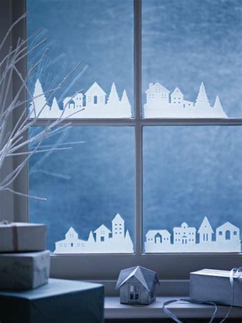 Fensterdeko Weihnachten Häuser by Fensterdeko Zu Weihnachten 104 Neue Ideen