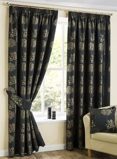 arden jet pencil pleat luxury ready made curtains pencil