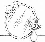 Mirror Coloring Coloringcrew Colorear 58kb 470px sketch template