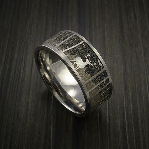 elk   woods hunter wedding ring cobalt chrome band