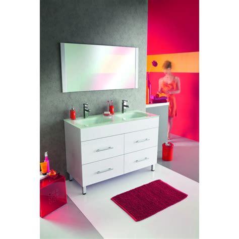 meuble de salle de bain deliss blanc 120