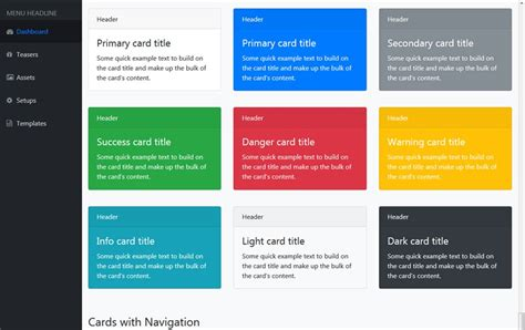 bootstrap admin templates css author