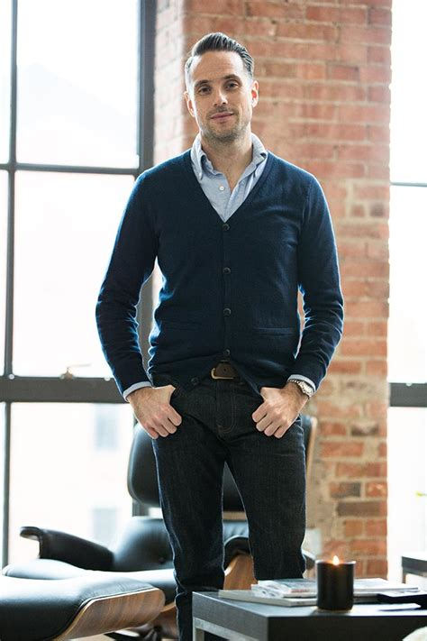 Navy Cardigan with Jeans - Menu0026#39;s Casual Outfit Idea - He Spoke Style