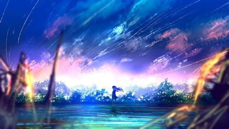Anime Landscape Wallpaper - 1920x1080 anime falling scenic