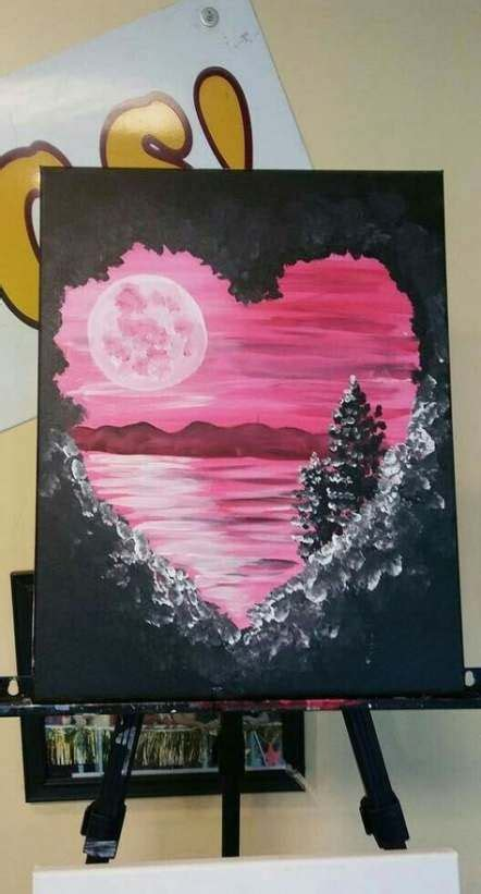 ideas painting canvas landscape fun   painting art projects canvas painting diy