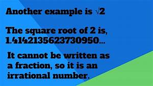 Rational and Irrational Numbers - YouTube