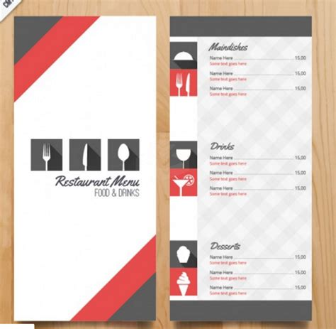 Menu Brochure Template Free by Restaurant Brochure Template Bbapowers Info