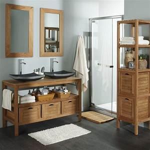 salle de bain teck leroy merlin idees deco salle de bain With meuble teck salle de bain leroy merlin