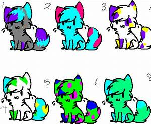 FREE Neon colored cat adoptables CLOSED by