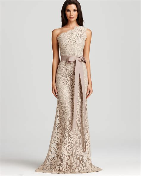 Tadashi Shoji Lace Gown One Shoulder  Ee  Bloomingdales Ee