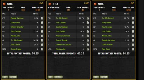 daily fantasy basketball page  sports hip hop