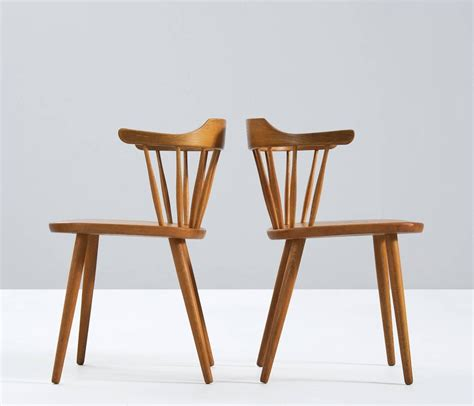yngve ekstr 246 m set of dining chairs in solid oak sweden