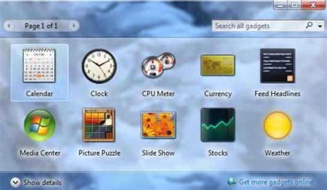 gadget de bureau gratuit comment avoir des gadgets windows 7
