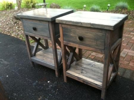 reclaimed wood diy nightstands  country pine  plans  ana whitecom rustic easy  build