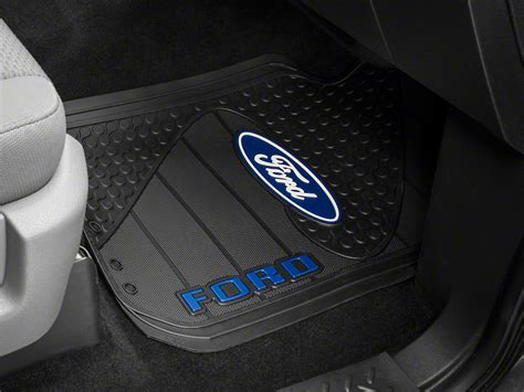 floor mats with ford logo trushield ford logo f 150 factory floor mat t526386 09 15 free shipping