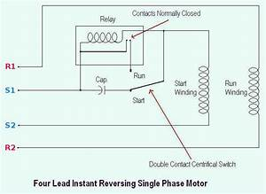 Four Lead Instant Reversing Single Phase Motor