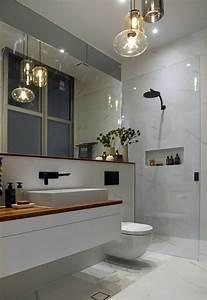 Salle De Bain En L : comment am nager une salle de bain 4m2 ~ Melissatoandfro.com Idées de Décoration