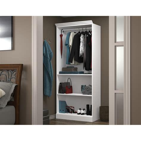 "Versatile 36"" Closet Storage Shell In White"
