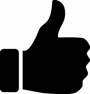 Thumbs Up Icon Black Clip Art at Clker.com - vector clip ...