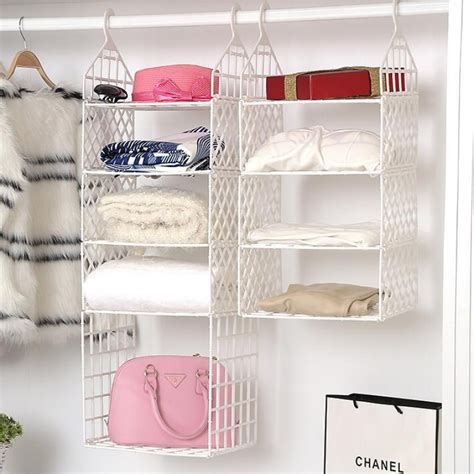 diy hanging closet organizer plastic folding storage