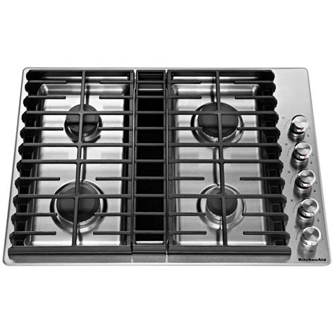 downdraft gas cooktop kcgd500gss kitchenaid 30 quot gas downdraft cooktop stainless