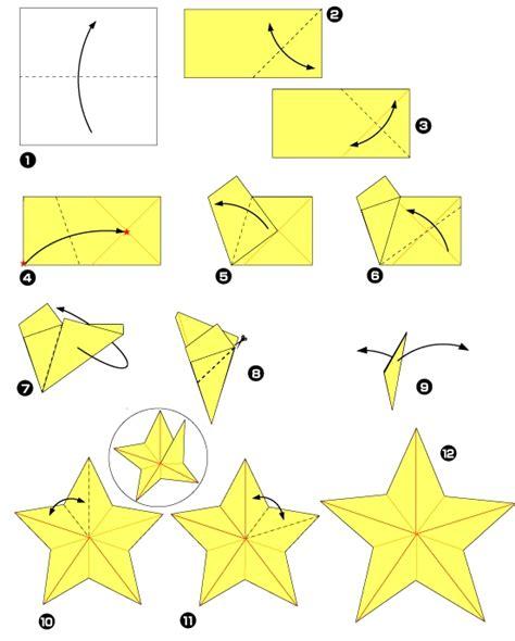 origami pour les f 234 tes l 233 toile 224 cinq branches