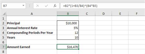 compound interest excel compound interest in excel easy excel tutorial