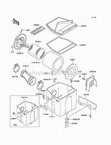 Kawasaki Klf220-a13 Parts List And Diagram