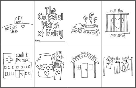 The Corporal Works Of Mercy Mini Coloring Book- Free