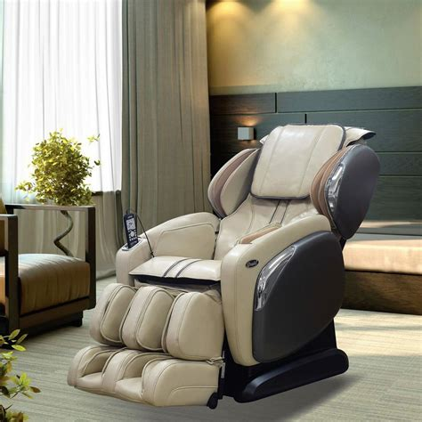 titan osaki ivory faux leather reclining chair os
