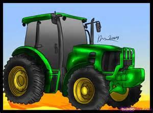John Deere Tractor Cartoon