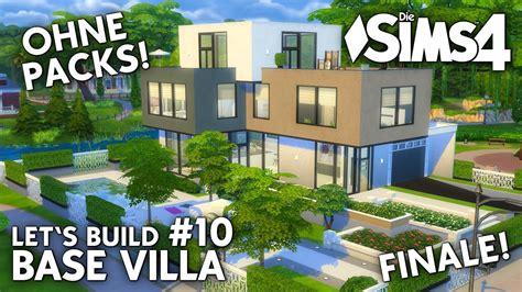 Die Sims 4 Haus Bauen Ohne Packs Base Villa 10 Finale