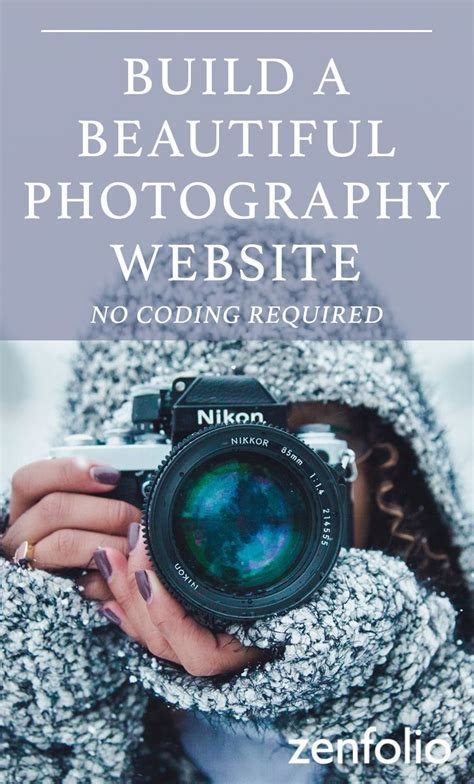 start building   photography site today