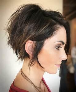 Coupe Courte 2018 : id e tendance coupe coiffure femme 2017 2018 ~ Carolinahurricanesstore.com Idées de Décoration