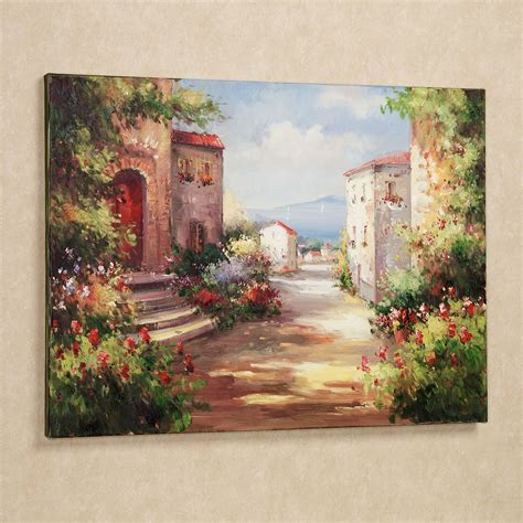 Tuscan Decorating Ideas For Patio by Tuscan Summer Handpainted Canvas Art
