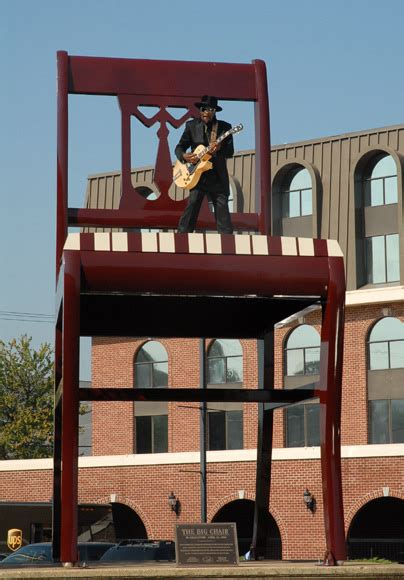 chuck brown on the big chair in anacostia