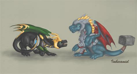 Baby Thor And Loki Dragons By Imbecamiel On Deviantart