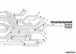 quotvector electronic circuit on white backgroundquot stock With electronic circuit board 4