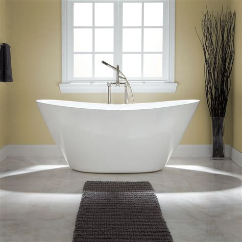 free standing bathtubs 68 quot treece freestanding acrylic tub no overflow